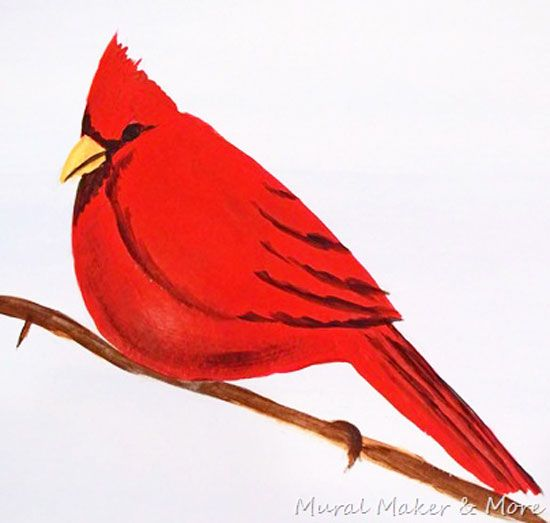 How to Paint a Red Cardinal is part of Birds painting, Painting canvases, Art painting, Acrylic painting inspiration, Learn to paint, Cardinal painting - Learn How to Paint a Red Cardinal in this easy tutorial! Great for beginners!