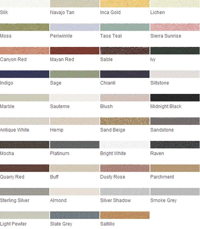 Grout Rejuvenator Color Charts For Help Matching Your Grout Color