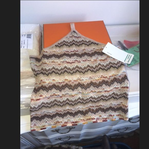 Brand new missoni top Missing rope for neck but u can put any type at top to tie Missoni Tops Blouses