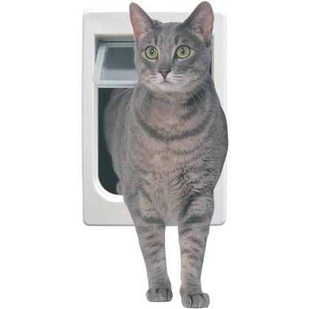 Ideal Chubby Kat Flap, White - Walmart com | Cat | Pet Door