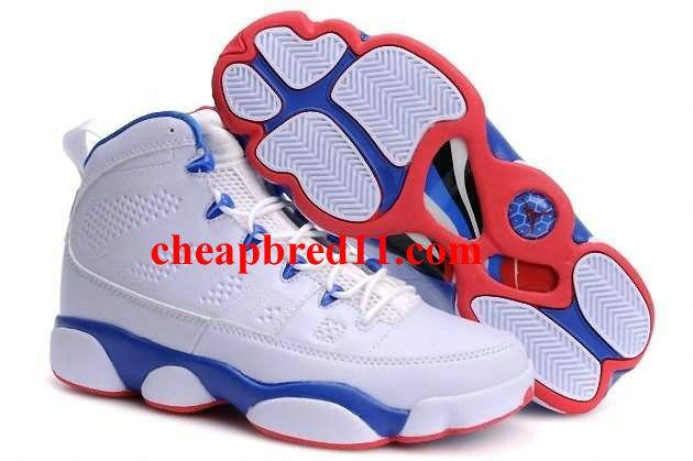Air Jordan Shoes 9 in Red White Blue a93333a510