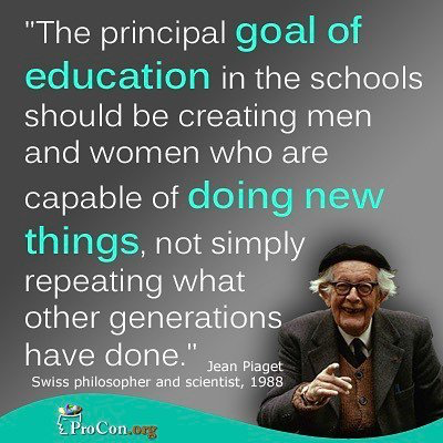 Pin by mrfuehr on Teacher Quotes | Jean piaget, Educational