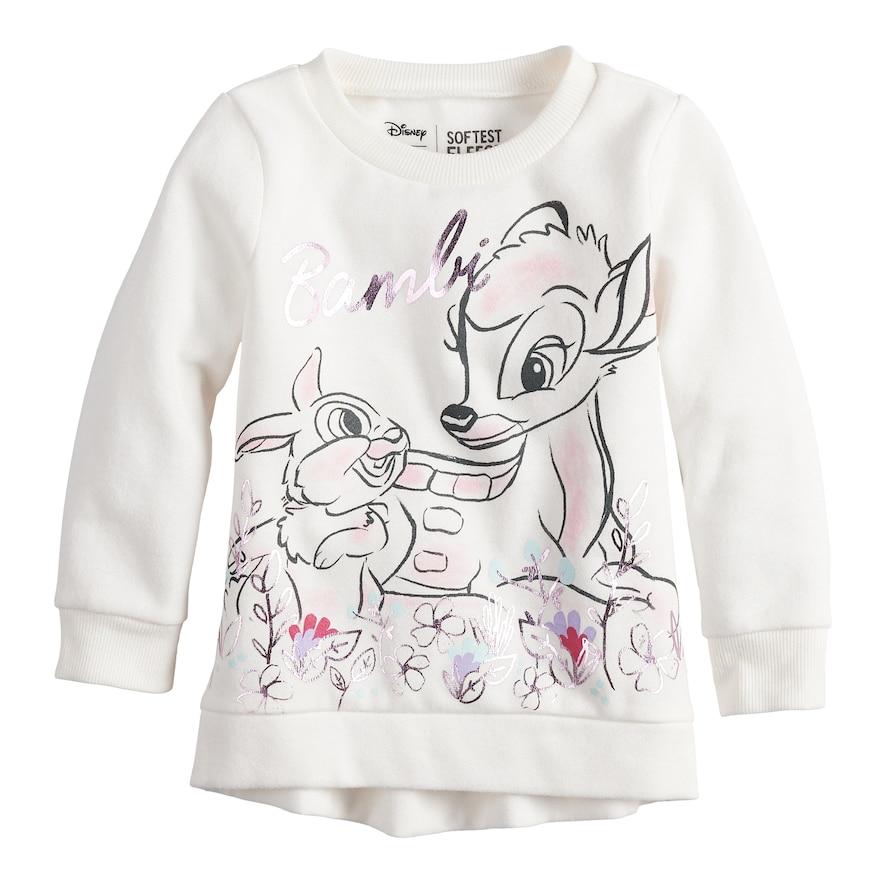 c325a49058ff2 Disney s Bambi Toddler Girl Softest Fleece Sweatshirt by Jumping Beans®