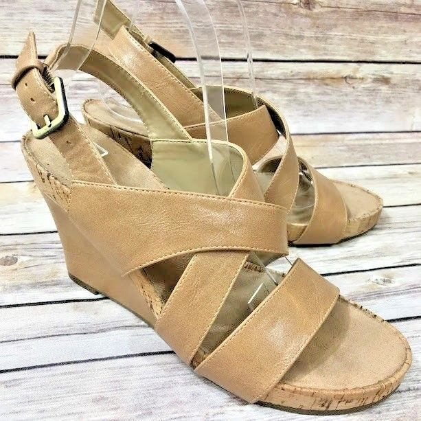 8d263ac6e712 Aerosoles A2 Womens True Plush Wedge Sandals Brown Size 8.5 Buckle Strap  Comfort  Aerosoles  PlatformsWedges