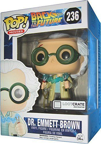 Dr. Emmett Brown Funko Pop #236 Loot Crate Exclusive Back To The Future Figurine #christmasgifts