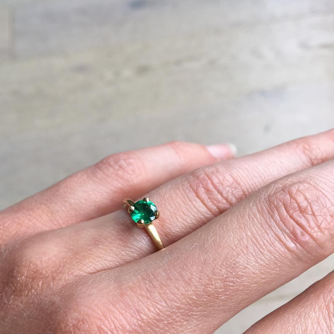 Green and glorious, emerald is the birthstone for May. Seen here in ...