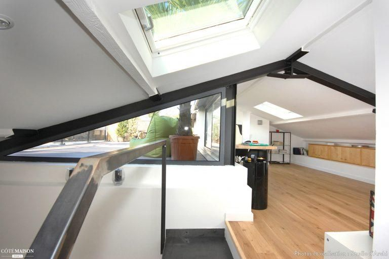 Una mansarda con terrazza Mansarda.it Interior design