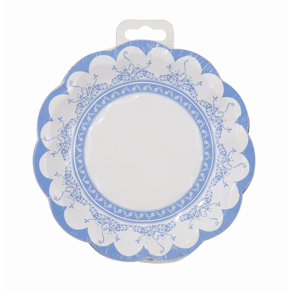 Party Porcelain Blue Small Paper Plate  sc 1 st  Pinterest & Party Porcelain Blue Small Paper Plate | Porcelain Fine china and ...