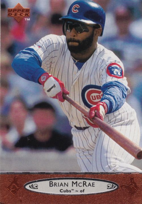Random Baseball Card 4050 Brian Mcrae Outfielder Chicago