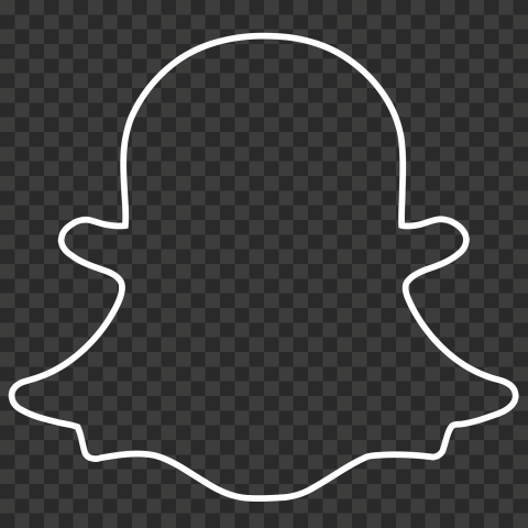 Hd White Snapchat Outline Ghost Logo Icon Symbol Png Ghost Logo Logo Icons Symbols