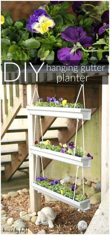 Diy Hanging Gutter Planter Diy Hanging Garden Projects 400 x 300