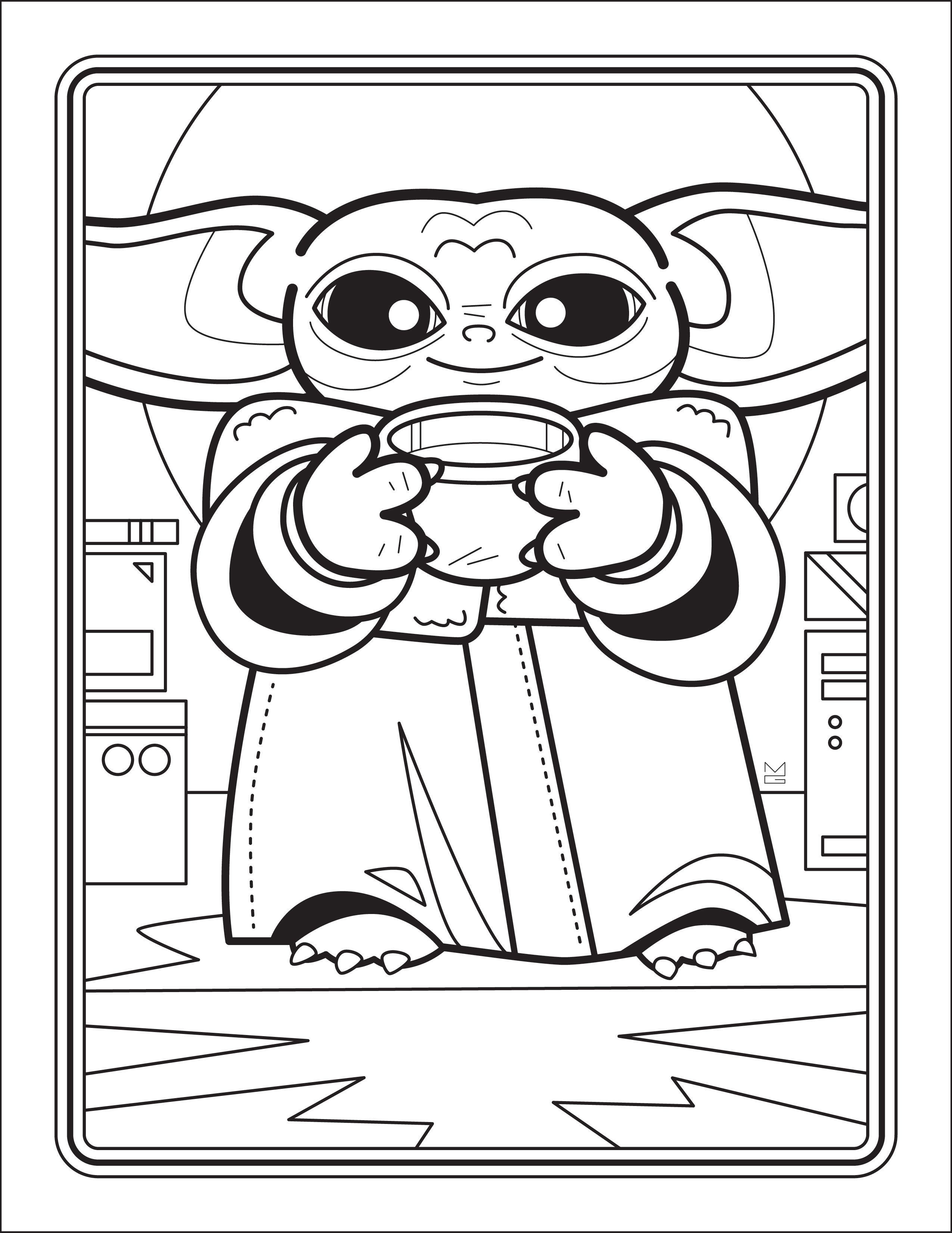 Free Downloadable Baby Yoda Coloring Book In