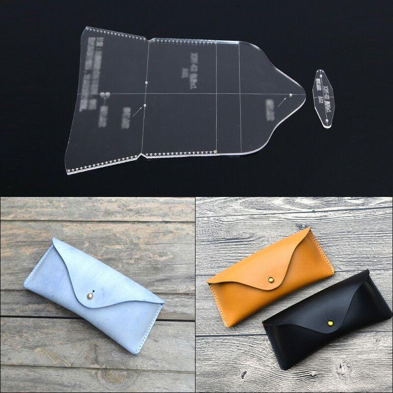 Acrylic Leathercraft Template Pattern For Glasses case Bag Handmade DIY BBX-102