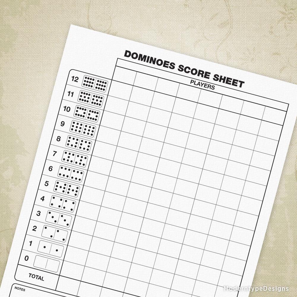 Dominoes Scoring Sheet Printable Printables, Lettering