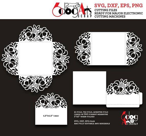 quad fold card template