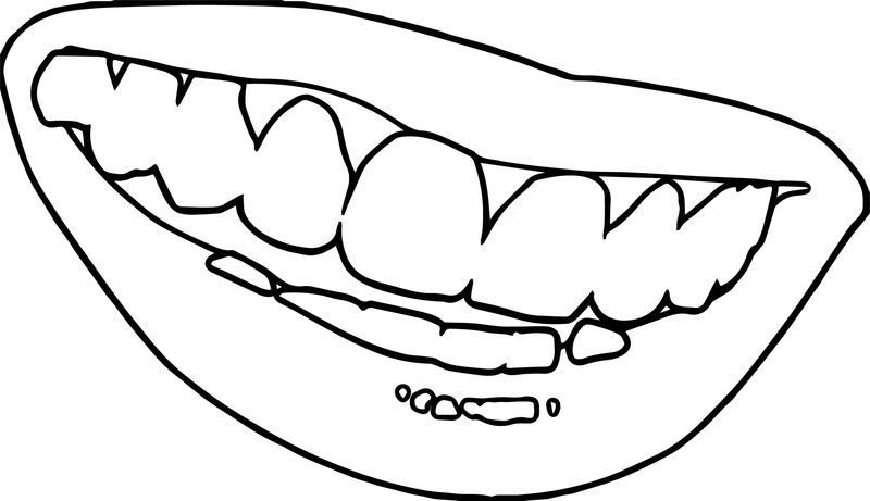 Smile Teeth Dental Coloring Page