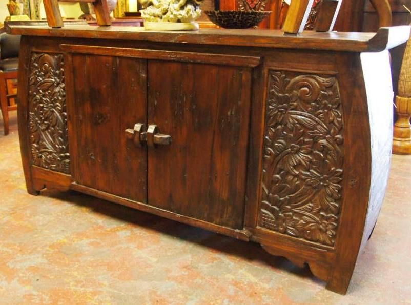 Makes A Beautiful Buffet Or A Cool Media Console Cabinet Handcrafted By Indonesian Artisans
