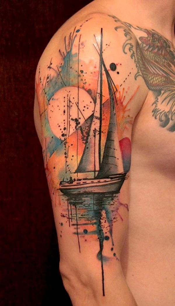 Watercolor Art Sleeve Tattoos Inspirational Tattoos Tattoos