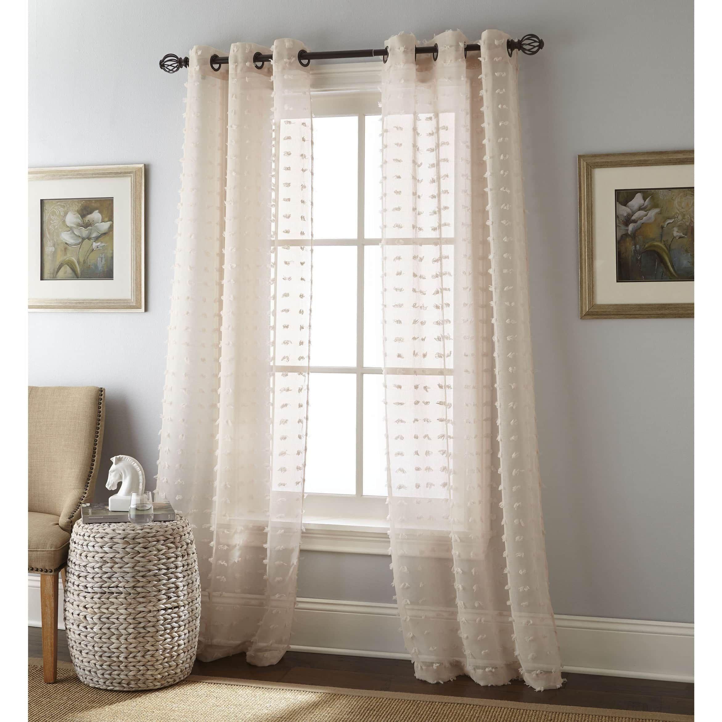 Nanshing Payton Solid Grommet Top Curtain Panel Pair