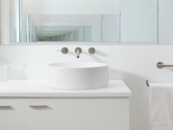 The Deep Spherical Basin And Minimalist Aesthetic Of K 14800 Sink Brings Style Vessel Sinkbathroom