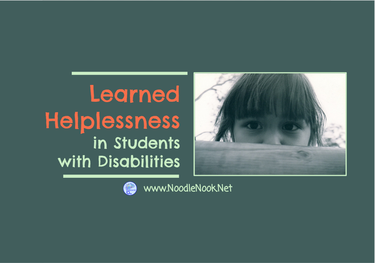 Learned Helplessness In Students With Disabilities