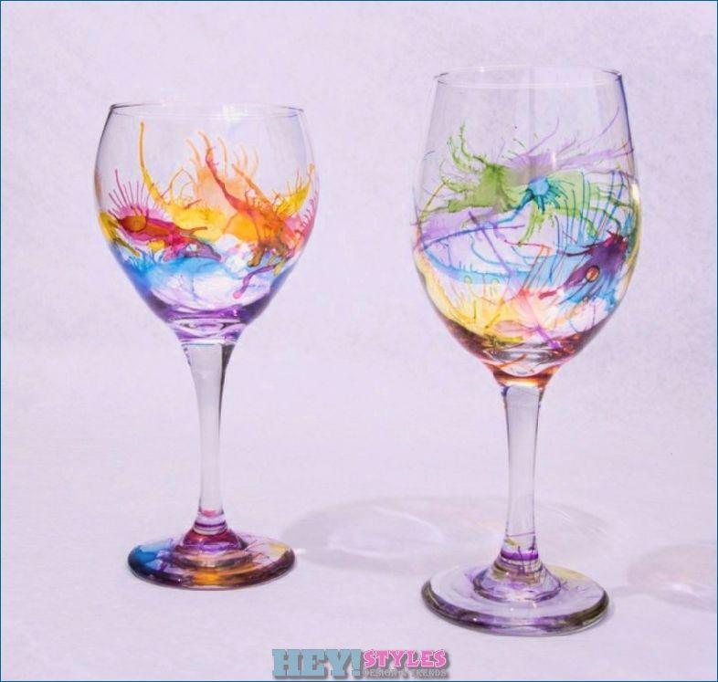 Decorating Glasses Fantastic Diy Ideas And Instructions Decorating Fantastic Glasses Ideas In Wine Glass Crafts Decorated Wine Glasses Alcohol Ink Glass