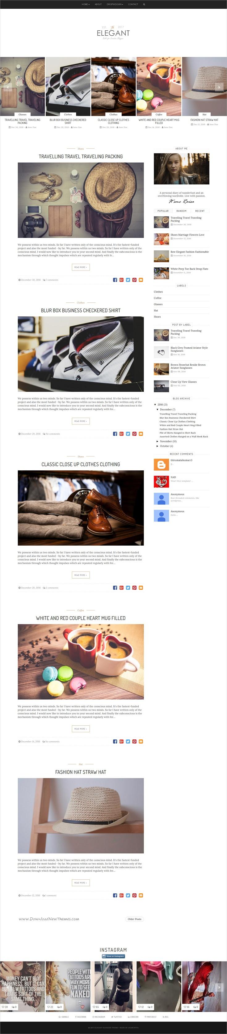 Raisa - An Elegant Responsive Blogger Theme