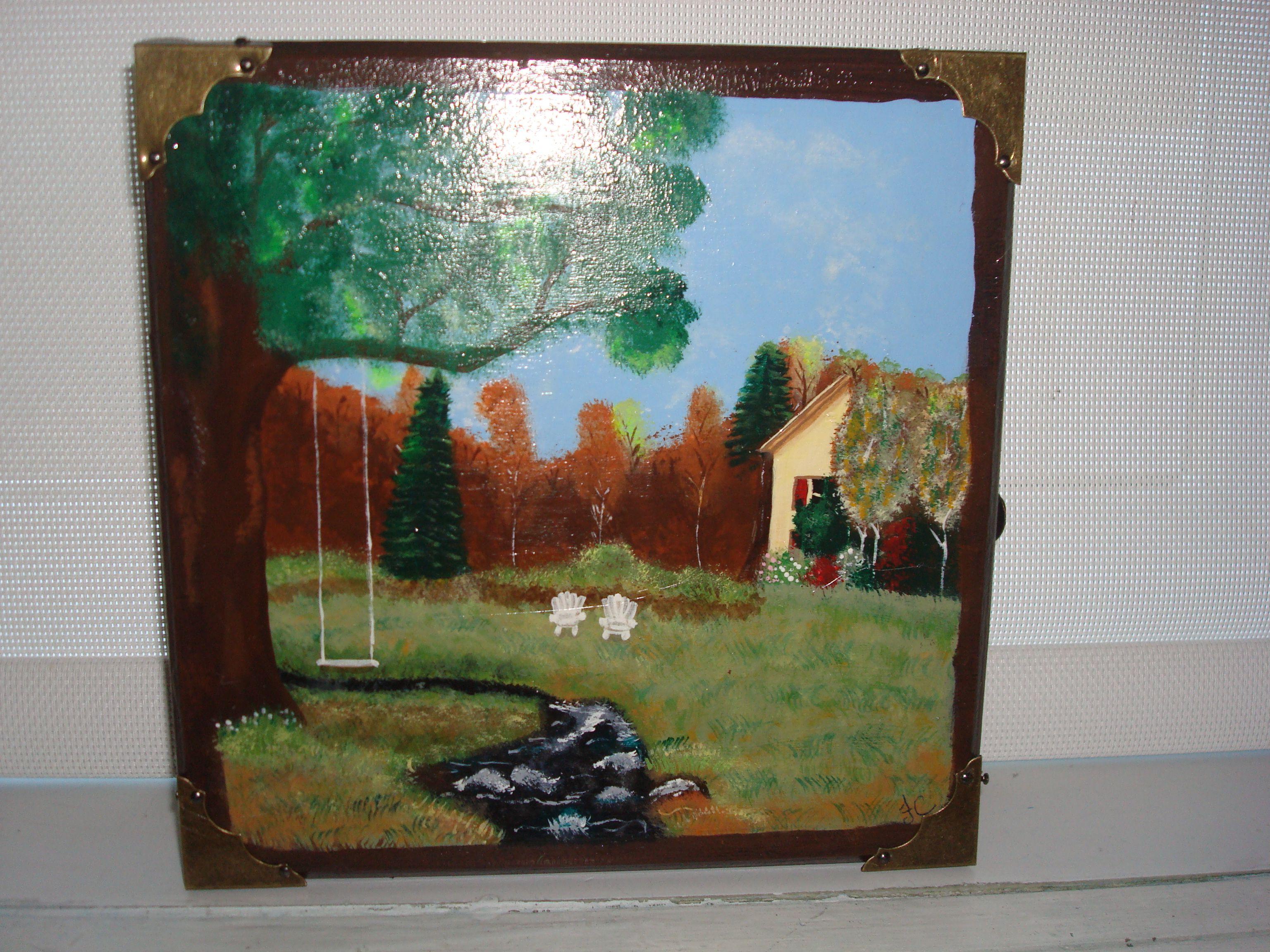 Boite a clef peinture acrylique sur bois acheter au Dolorama