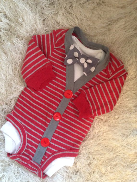 So comfy and adorable too, all at the same time, This cute onesie set is perfect for your little Guy, Pair with khakis and boat shoes for