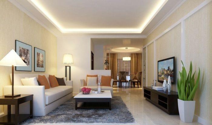 Elegant Indirekte Beleuchtung Ideen Deckenbeleuchtung Modernes Wohnzimmer