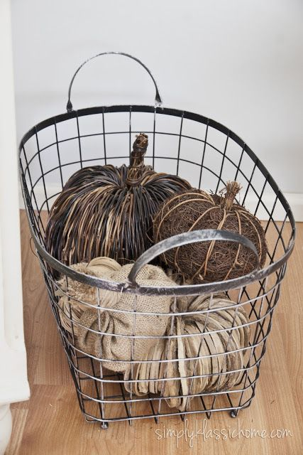 Industrial Blend Living Room Makeover Reveal | Wire basket ...