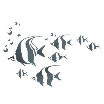 Трафареты с рыбками для декора