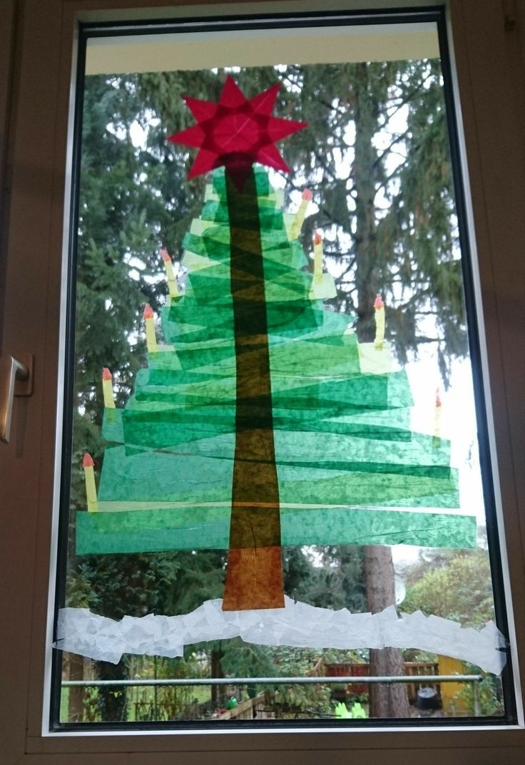 Photo of Fir made of tracing paper fixed with paste. Workload: 25 min Cost: …