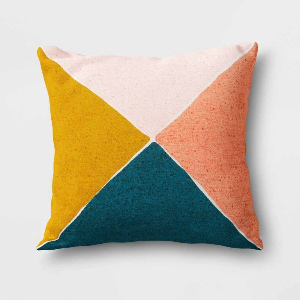 Outdoor Throw Pillow Blue Yellow Coral Project 62 In 2020 Throw Pillows Blue Throw Pillows Outdoor Throw Pillows