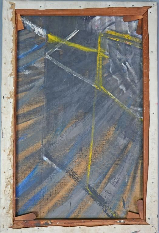 Francis Bacon, oil on canvas, part of a painting circa 1953/4, painted as a study for a Francis Bacon Pope portrait SOLD FOR £22,000  베이컨은 경제적인 문제로 캔버스 뒷면에도 그림을 그렸다. 이것이 오히려 반전을 만들어냄..