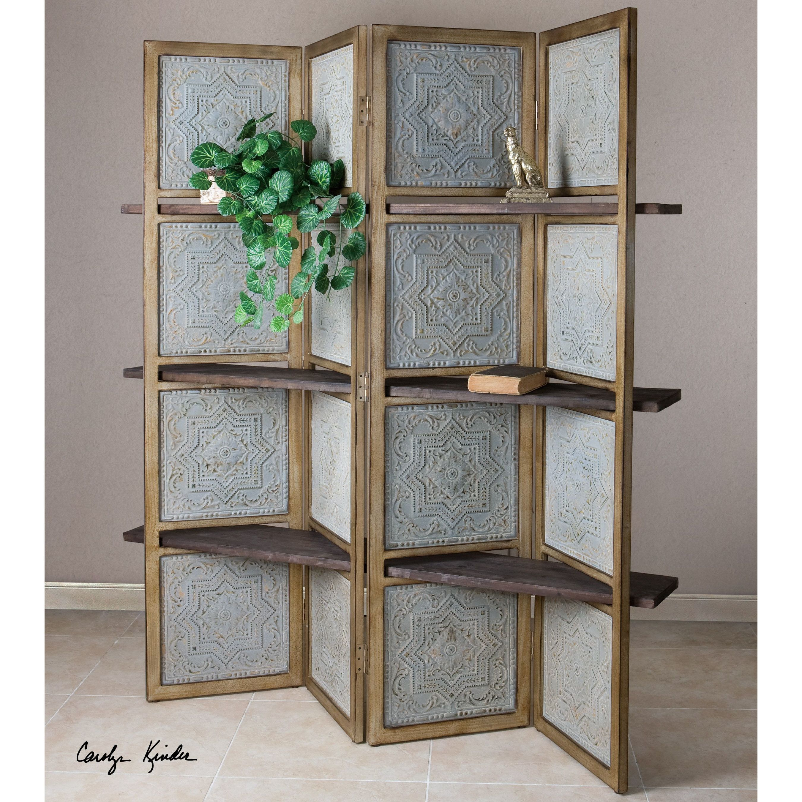 Uttermost anakaren 71 x 70 4 panel room divider home for Room divider art