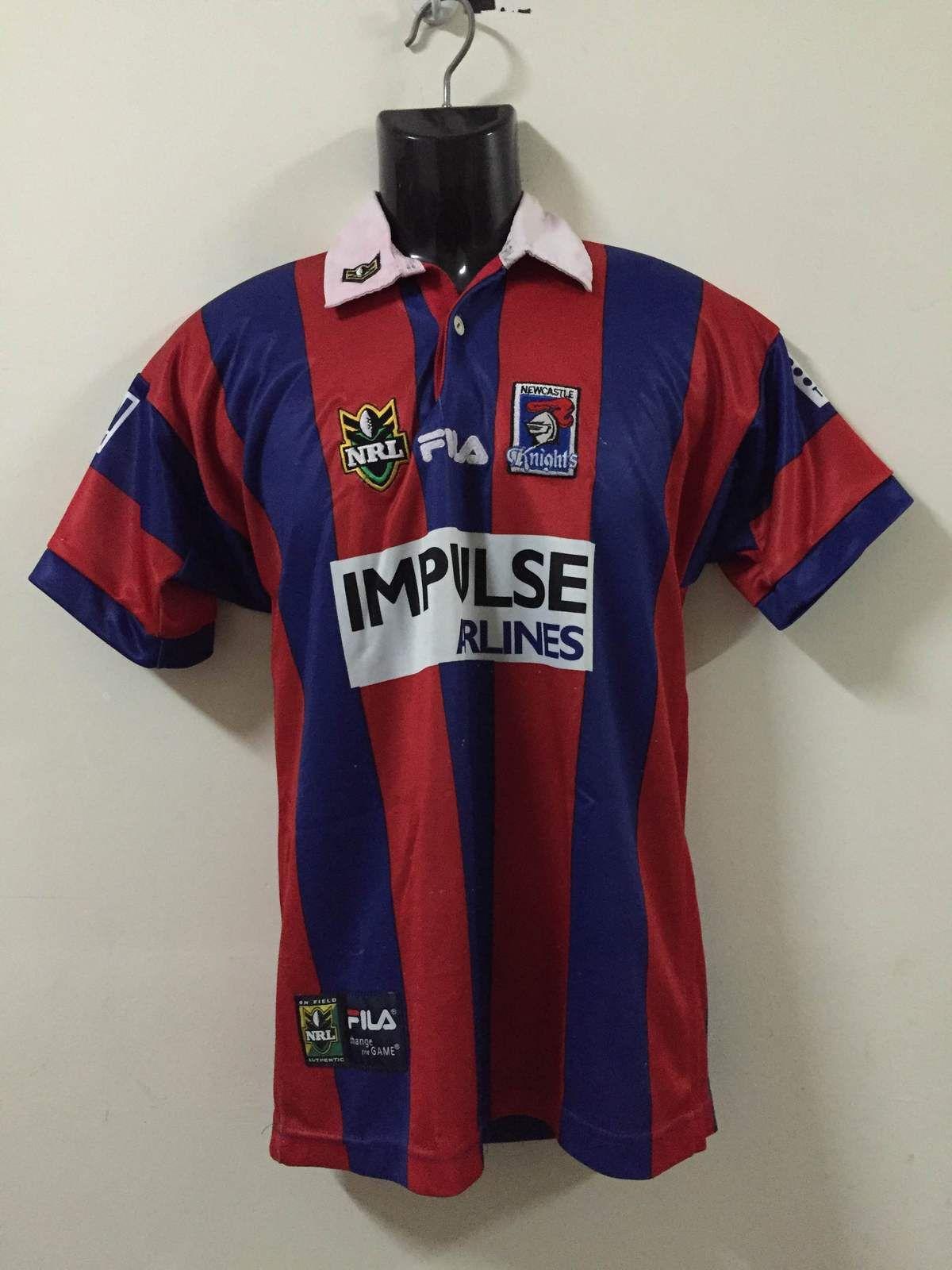 799e09c16a1f Rare Newcastle Knights IMPULSE AIRLINE NRL FILA Jersey Matthew Parkes -  Athletic Apparel