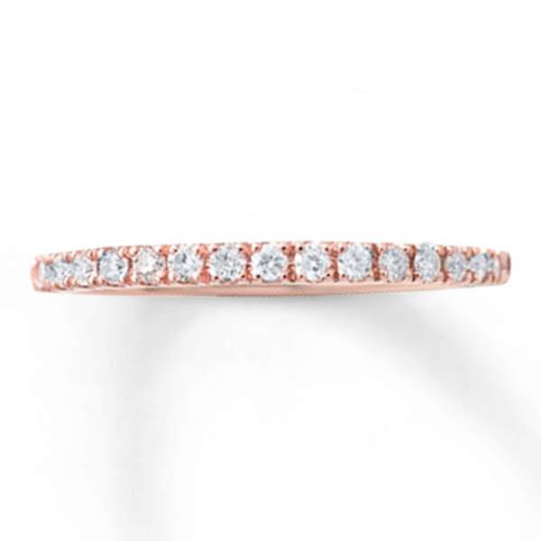 Previously Owned Wedding Band 1 4 Ct Tw Diamonds 10k Rose Gold Diamond Wedding Bands Rose Gold Wedding Band Diamond Diamond Anniversary Bands