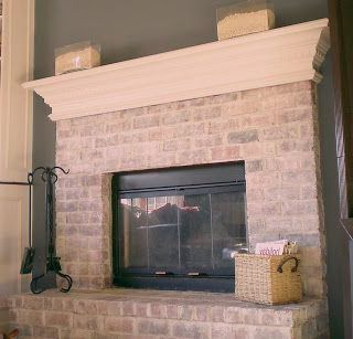 Painting Brick Fireplace Before And After How To Whitewash A Dated Brick Fireplace Diy My Homes Brick