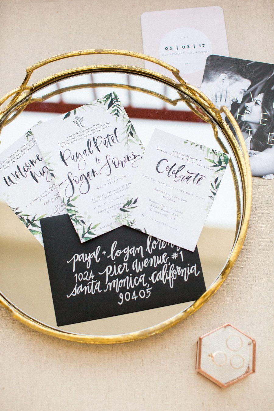 Hindu jewish wedding invitations