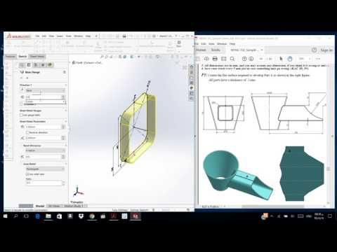 558 Sw Final Exam Sheet Metal Youtube Solidworks