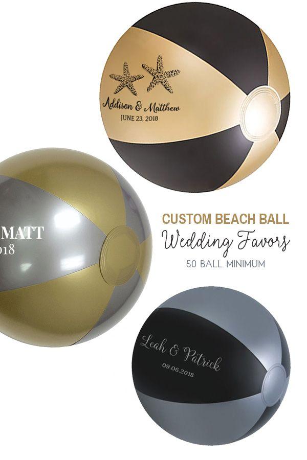 Custom Beach Balls Personalized For Beach Weddings Bridal Showers
