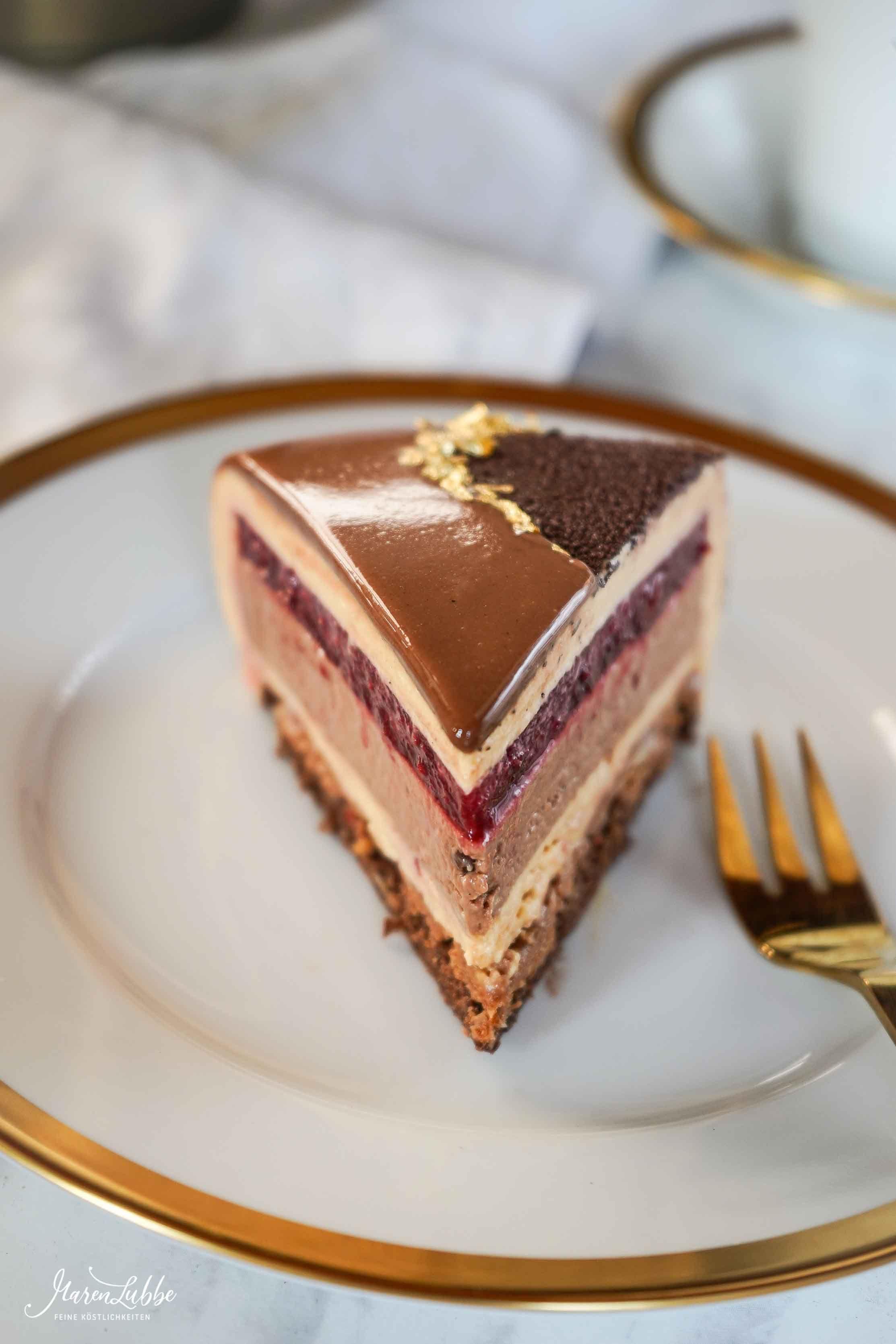 Kirsch Dulcey Schokoladentorte Maren Lubbe Feine Kostlichkeiten Schokoladen Torte Schokoladentorte Kuchen Und Torten Rezepte