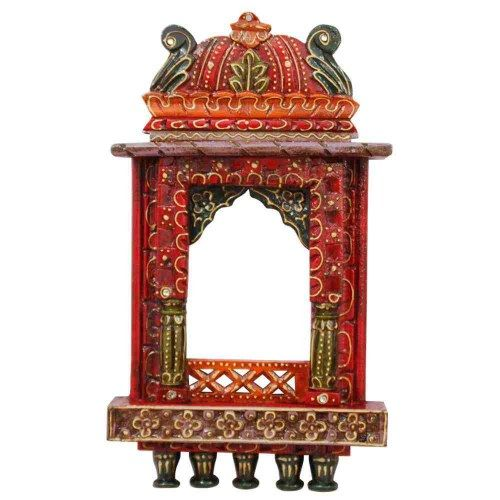 Wooden Jharokha   Indian Wall Decor