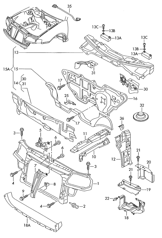 Volkswagen Vw R32 6 Mt Body Front Section Buy 3