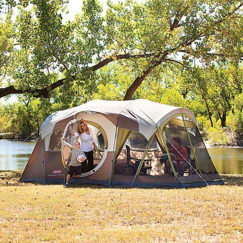 Pin it! :) Follow us :))  zCamping.com is your Camping Product Gallery ;) CLICK IMAGE TWICE for Pricing and Info :) SEE A LARGER SELECTION of 7 ++ persons camping tents at http://zcamping.com/category/camping-categories/camping-tents/7-plus-person-tents/ - hunting, camping tents, camping, camping gear -  Coleman WeatherMaster 10 Person 3 Room Tent with Screen Room « zCamping.com