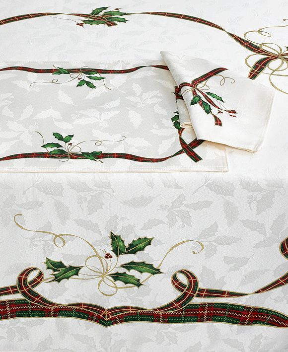 Lenox Table Linens, Holiday Nouveau Collection - Holiday Table Linens - Holiday Lane - Macy's