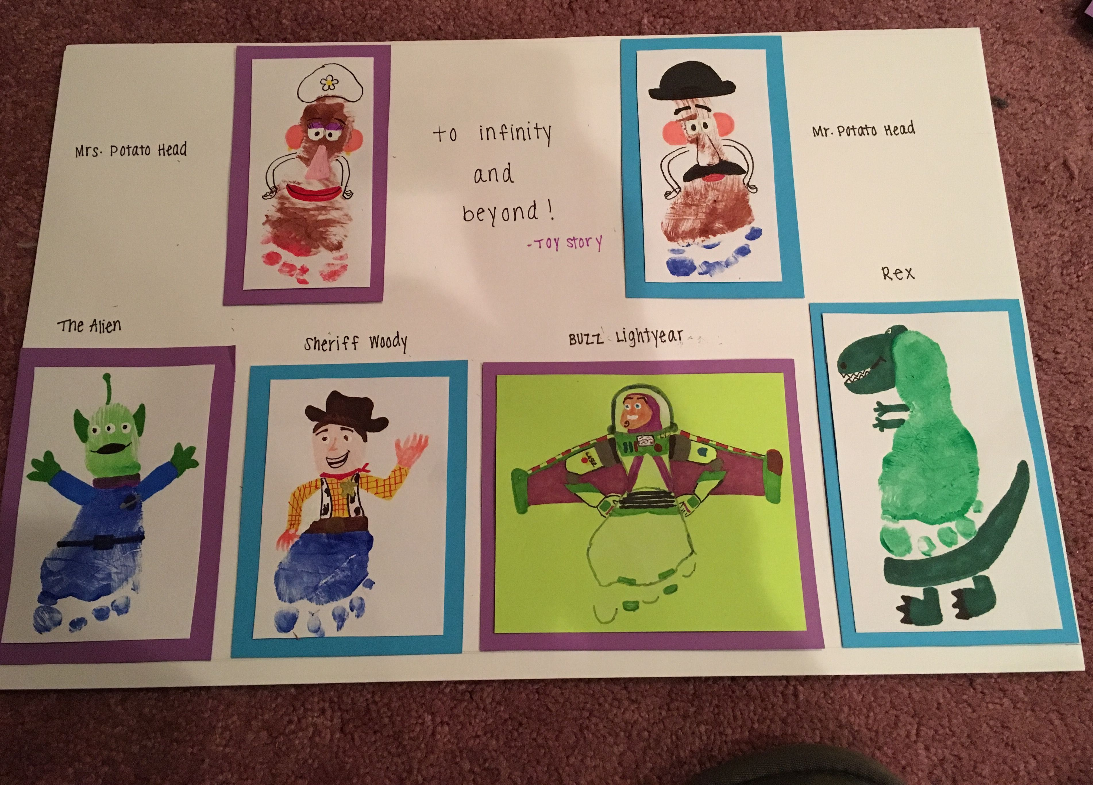Toy Story Inspired Footprint Crafts