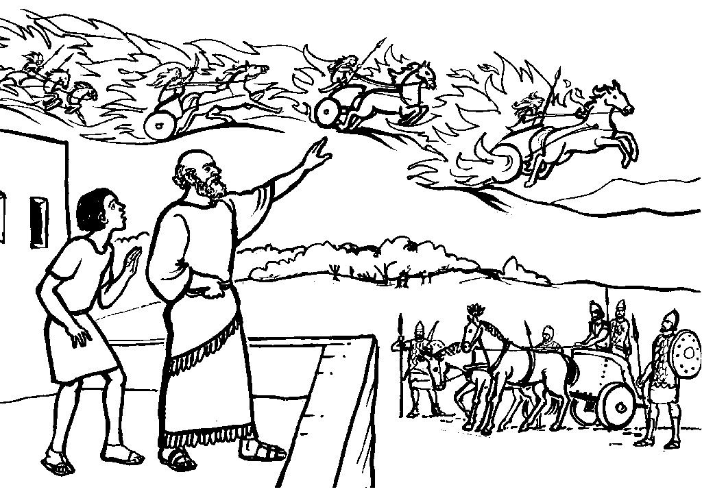 Elisha Invisible Army Sunday School Coloring Pages Army Crafts