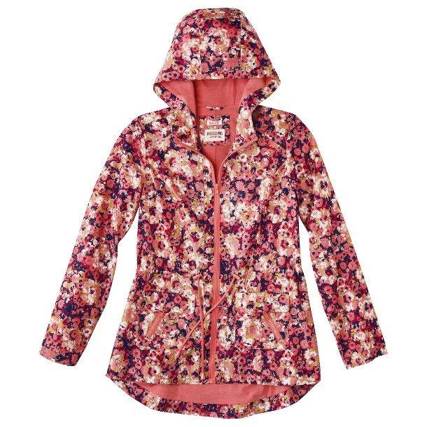 Mossimo Supply Co Junior S Anorak Rain Coat Pink Floral